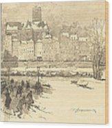 Quai De L'h?tel De Ville Wood Print