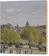 Quai Du Louvre In Paris Wood Print