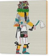Quail Dancer Kachina Wood Print