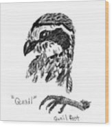 Quail Head With Foot Wood Print