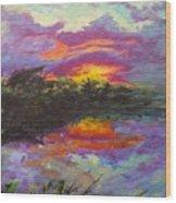 Quail Lake Wood Print