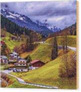 Quaint Bavarian Village Wood Print