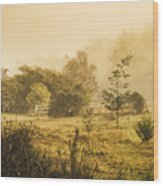 Quaint Countryside Scene Of Glen Huon Wood Print