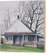 Quaker Meeting House Wood Print by Tom Dorsz