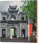 Quan Thanh Temple Gate Wood Print