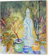 Quan Yin Garden Wood Print
