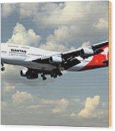 Quantas Boeing 747 Wood Print