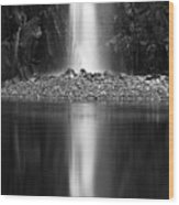 Quarry Waterfall Wood Print