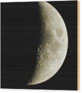 Quarter Moon Photo By W G  Smith Wood Print