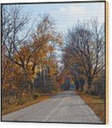 Quarterline Road Wood Print