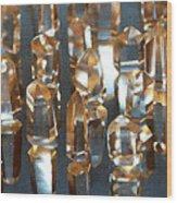 Quartz Crystal Collection Wood Print