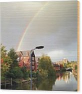 Quayside Double Rainbow Wood Print