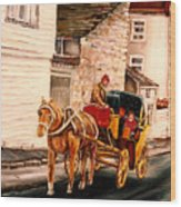 Quebec City Carriage Ride Wood Print