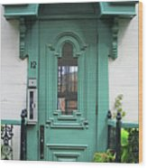 Quebec City Doors 3 Wood Print