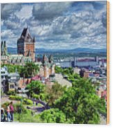 Quebec City Overlook Wood Print