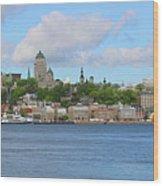 Quebec City Waterfront  6320 Wood Print