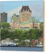 Quebec City Waterfront 6324 Wood Print