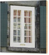 Quebec City Windows 47 Wood Print