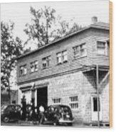 Quebec Garage 1940s Wood Print