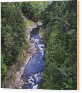 Quechee Gorge In Vermont Wood Print