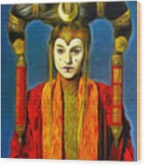 Queen Amidala Senate Costume Wood Print