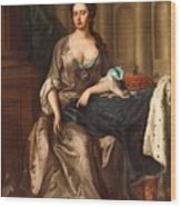 Queen Anne Og England Represented  Wood Print