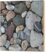 Queen Charlotte Island Stones Wood Print by Sherry Leigh Williams
