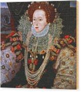 Queen Elizabeth I, C1588 Wood Print