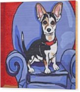 Queen Lucy Wood Print by Laura Brightwood