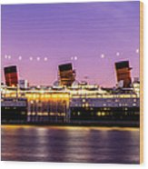 Queen Mary At Dusk_pano Wood Print