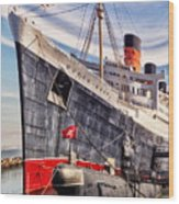 Queen Mary Ghost Ship Wood Print