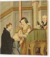Queen Mary I Curing Subject With Royal Wood Print