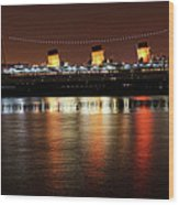 Queen Mary Panorama  Wood Print