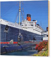 Queen Mary Ship Wood Print