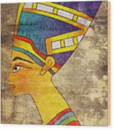 Queen Of Ancient Egypt Wood Print