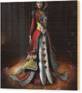 Queen Of Hearts Wood Print