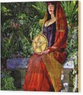 Queen Of Pentacles Wood Print by Tammy Wetzel