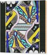 Queen Of Spades - V2 Wood Print