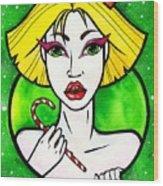 Queen Of Sweets Wood Print