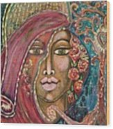 Queen Of The Cosmos Wood Print