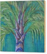 Queen Palm Wood Print