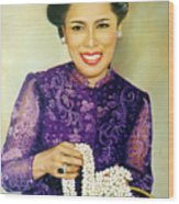 Queen Sirikit2 Wood Print