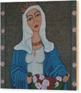 Queen St Isabel - The Miracle Of The Roses Wood Print