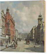 Queen Street, Aukland Wood Print