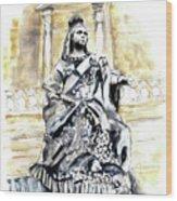 Queen Victoria In Valletta Wood Print