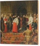 Queen Victoria Opening  Wood Print