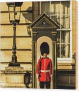 Queens Guards. Wood Print
