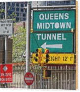 Queens Midtown Tunnel Wood Print