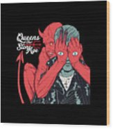 Queens Of The Stone Age Wood Print