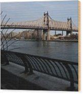 Queensboro Bridge, Nyc Wood Print